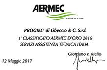 Vincitore premio AERMEC d'Oro